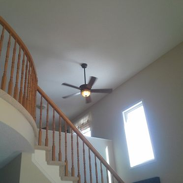 Ceiling fan over stairs